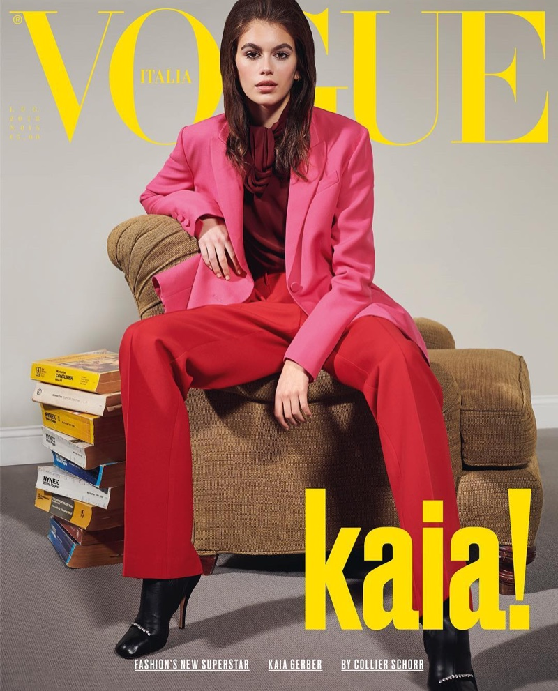 Kaia Gerber on Italian Vogue July 2018 Cover. Photo: Collier Schorr