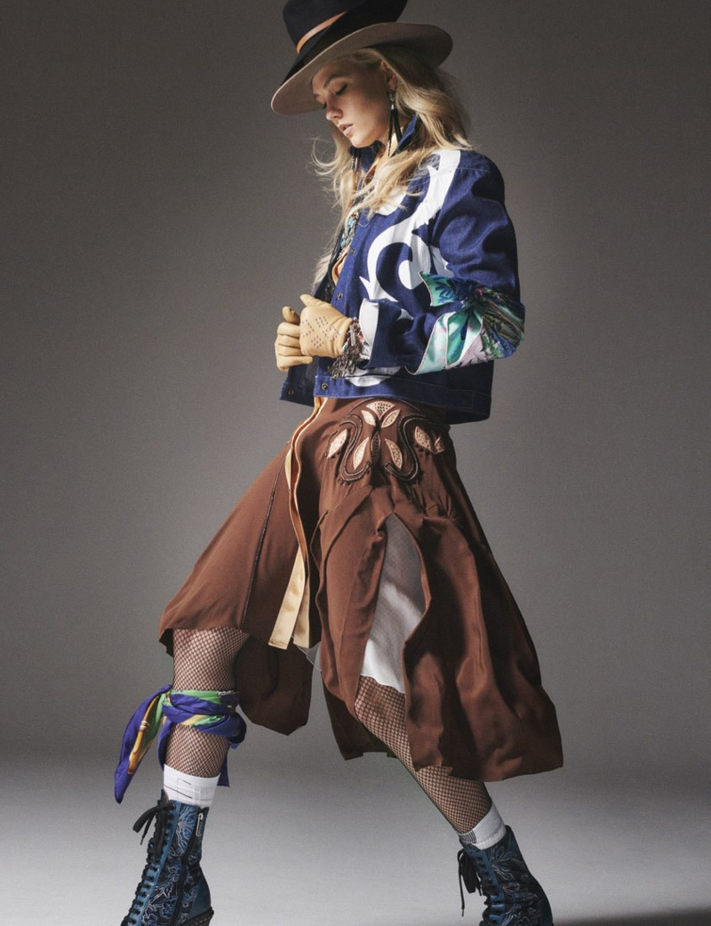 Karlie Kloss Goes West in Cowgirl Fashion for W Magazine