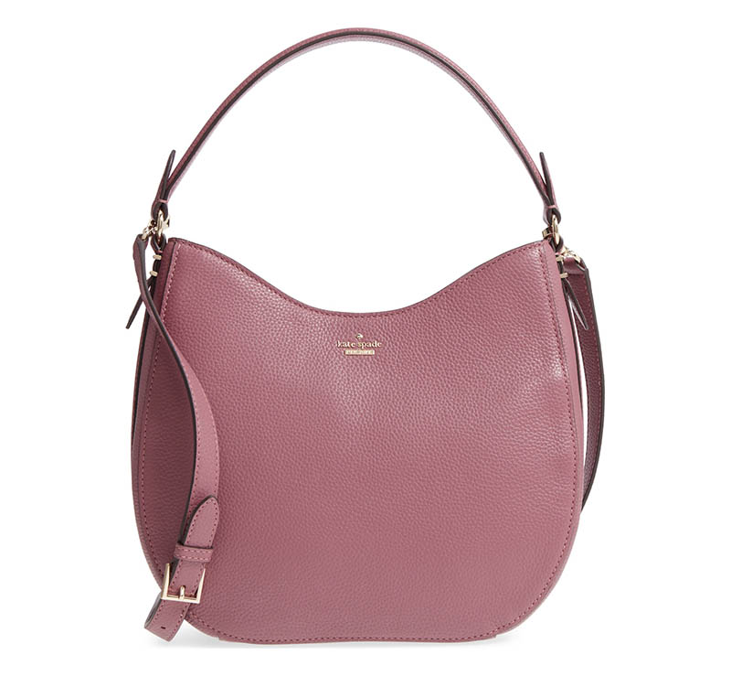 Kate Spade New York Oakwood Street - Lora Pebbled Leather Hobo Bag $218.90 (previously $328)