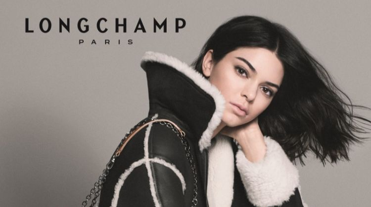 Kendall Jenner is Amazon Glam for Longchamp's Fall 2018 Campaign