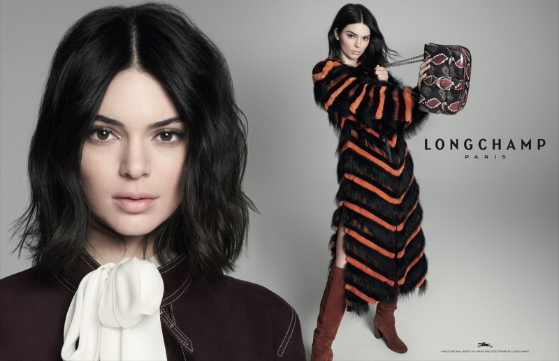 David Sims photographs Kendall Jenner for Longchamp fall-winter 2018 campaign