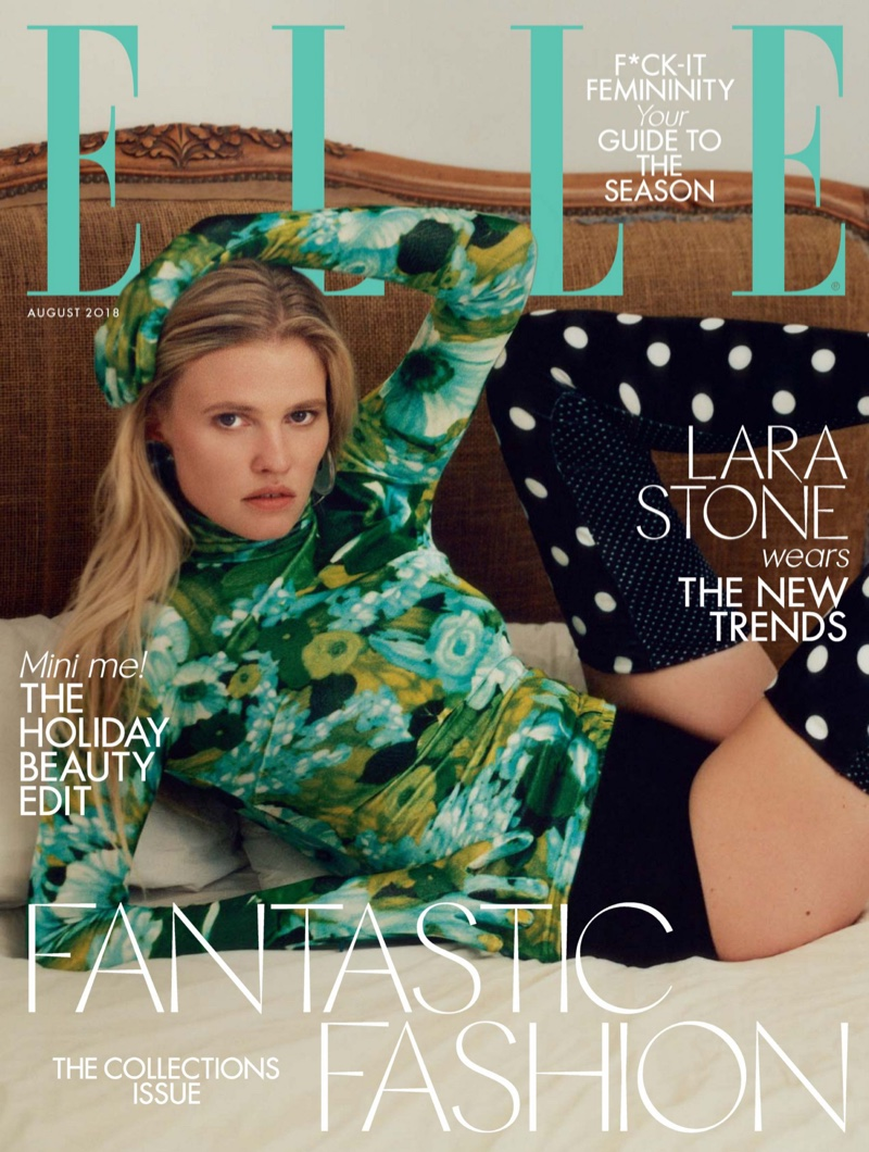 Lara Stone Models the Fall Collections for ELLE UK