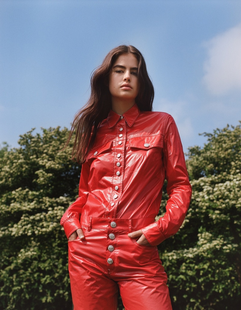 Lily Jean Harvey Models Calvin Klein Looks for Wonderland Magazine