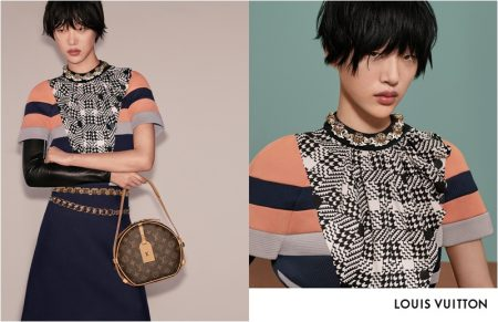 Sora Choi poses in Louis Vuitton fall-winter 2018 campaign