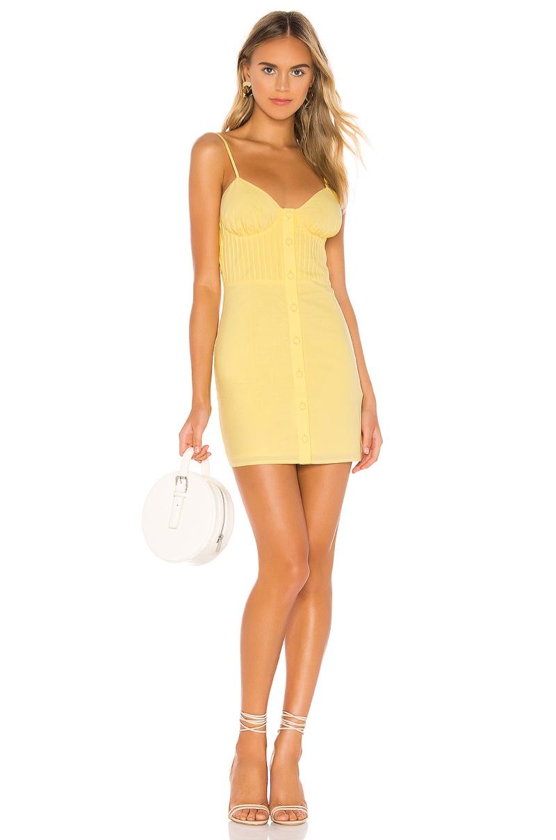 Lovers + Friends Hartwell Mini Dress in Lemon $188