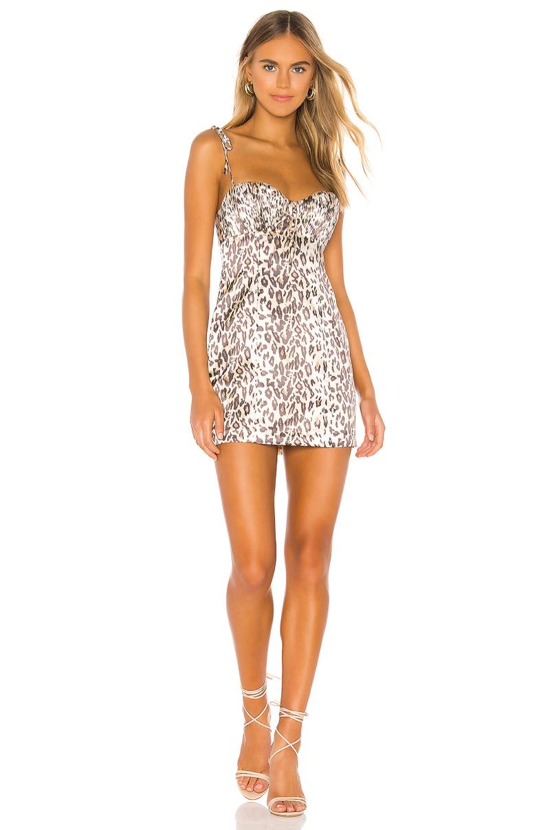 Lovers + Friends Helena Dress in Leopard $168