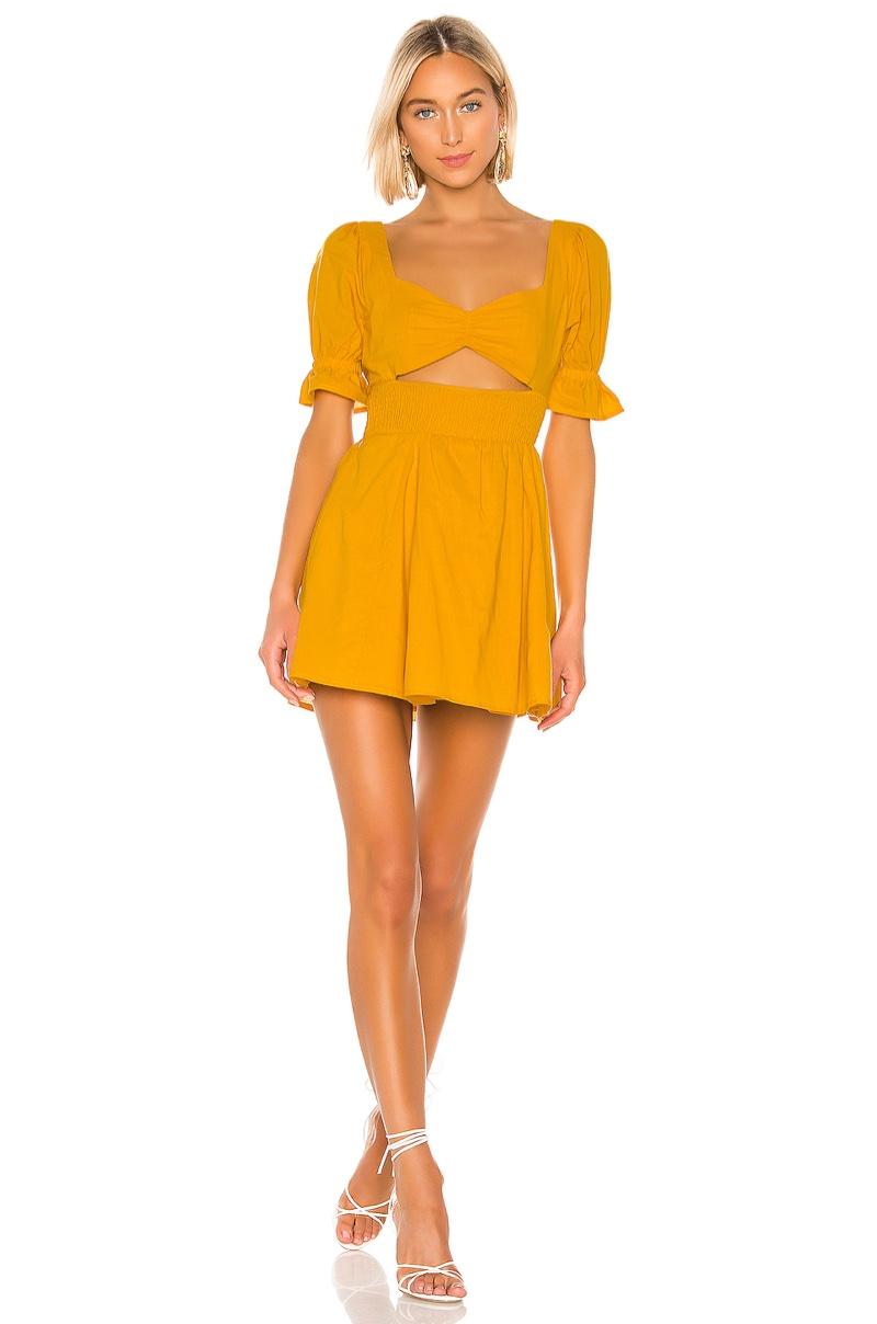 Lovers + Friends Miji Mini Dress in Sunflower Yellow $168