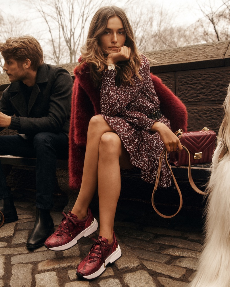 Andreea Diaconu and Baptiste Radufe appears in MICHAEL Michael Kors fall-winter 2018 campaign