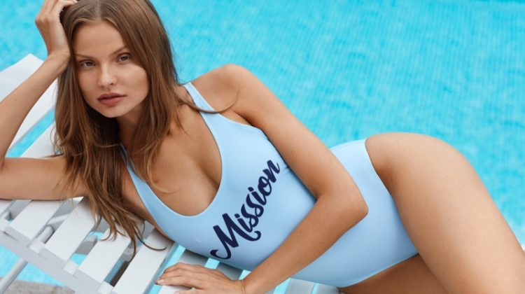 Magdalena Frackowiak Smolders in Mission Swim Campaign