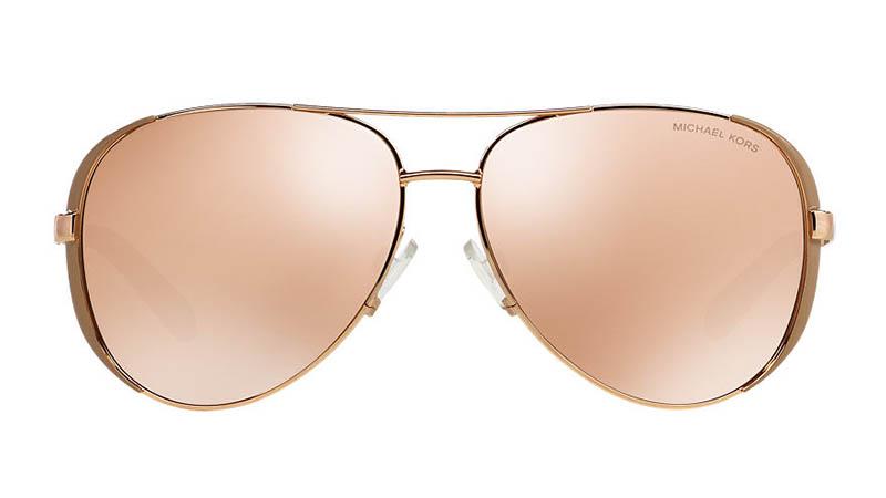 Michael Kors Chelsea Sunglasses in Rose Gold/Gold $99