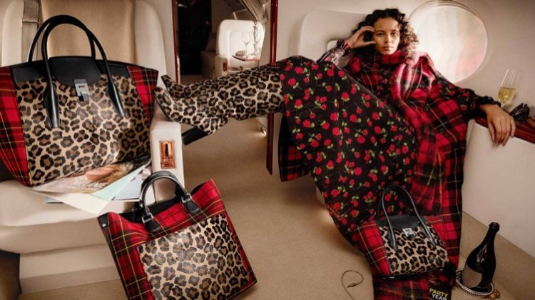 Binx Walton Jet-Sets in Michael Kors' Fall 2018 Campaign