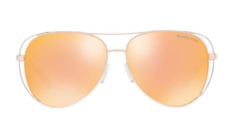 Michael Kors Lai Sunglasses in Rose Gold/Gold $139