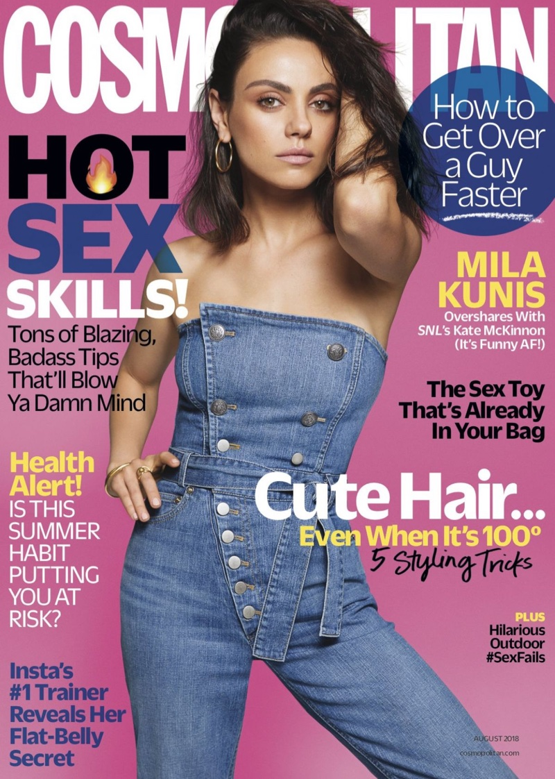 Mila Kunis on Cosmopolitan August 2018 Cover