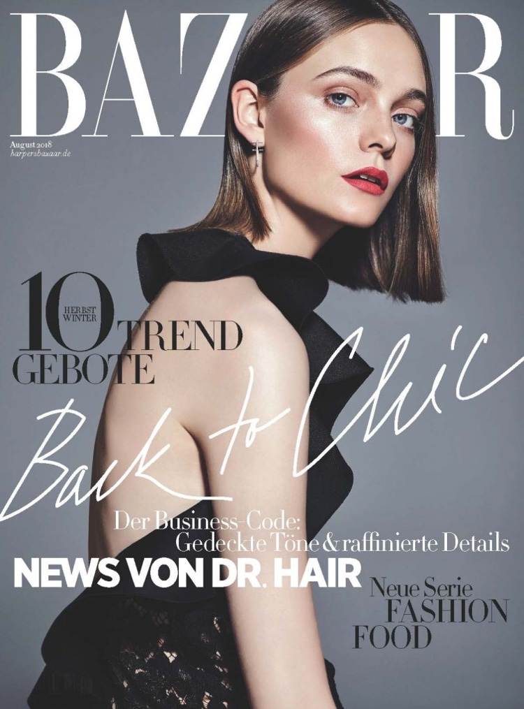 Nimue Smit Models All Black Looks for Harper's Bazaar Germany