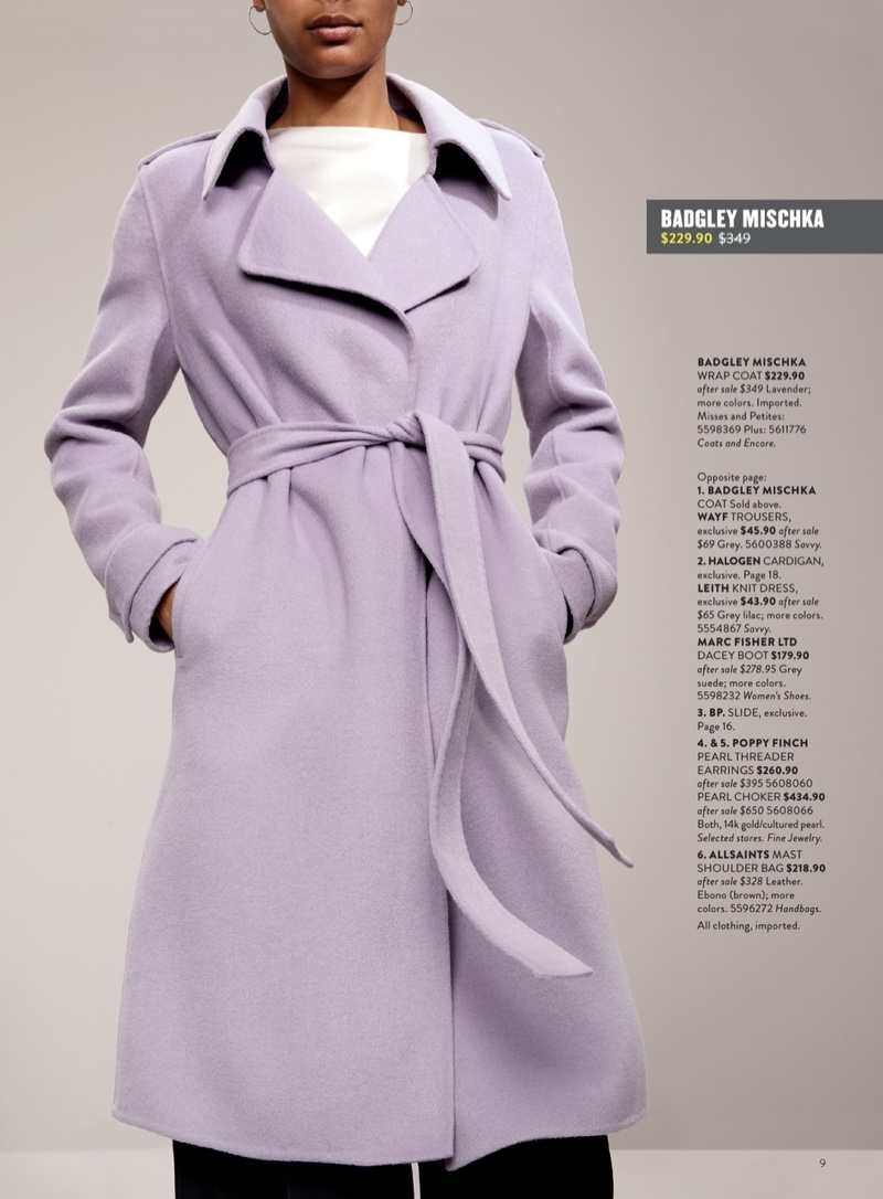 Badgley Mischka Double Face Wool Blend Wrap Front Coat $229 (previously $349)