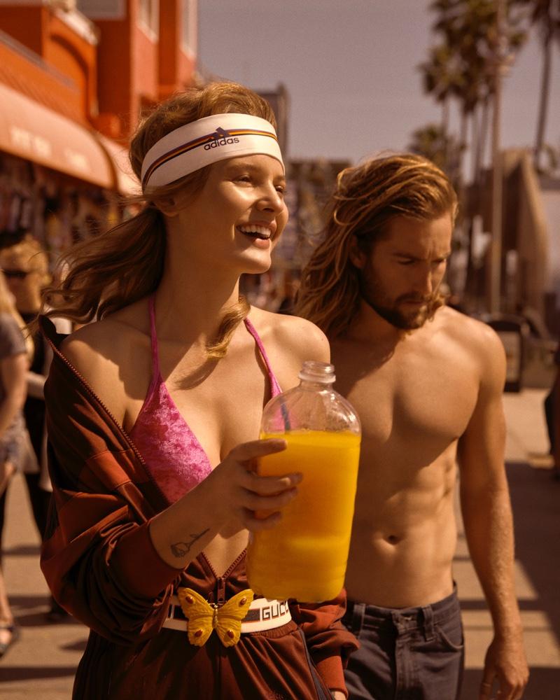 Paige Reifler Wears Venice Beach Style in Harper's Bazaar Czech