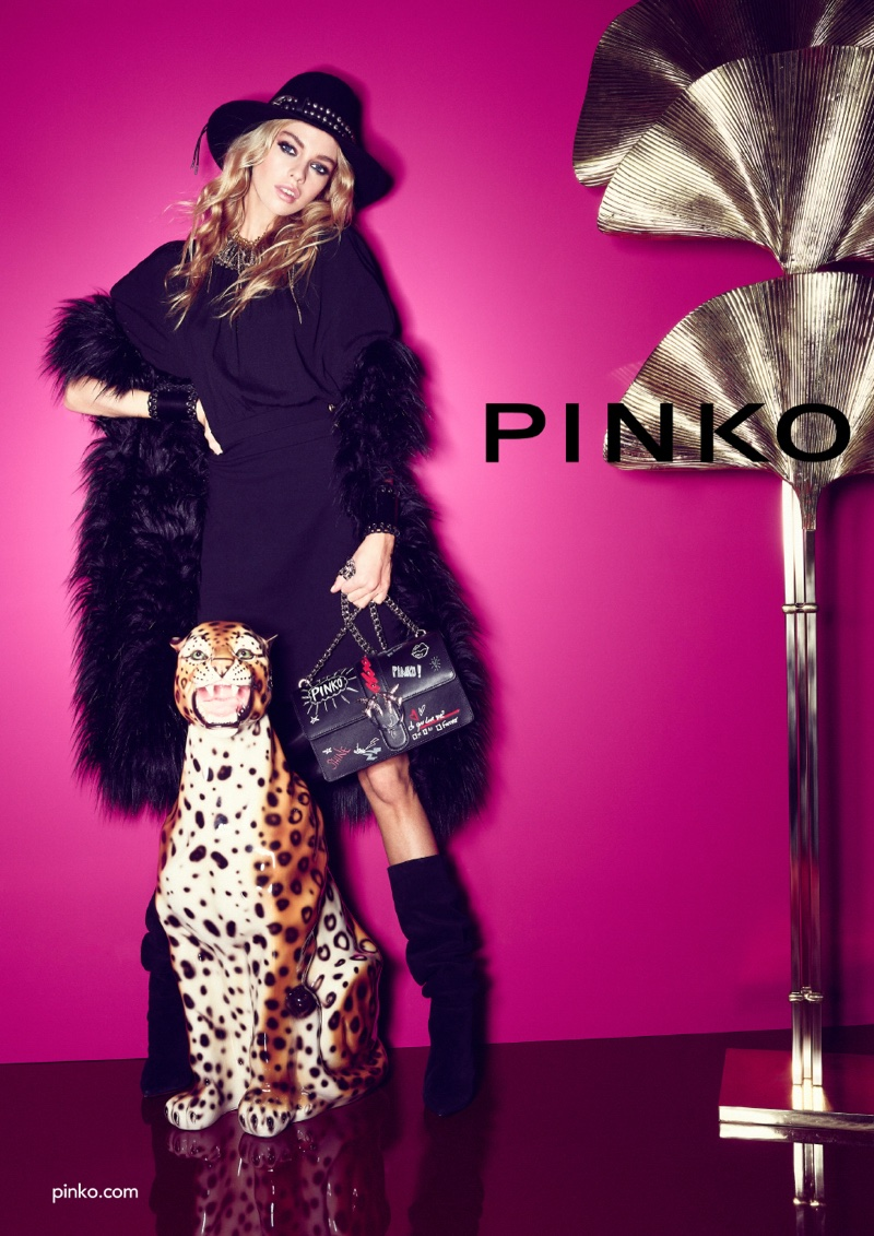An image from Pinko's fall 2018 advertising campaign