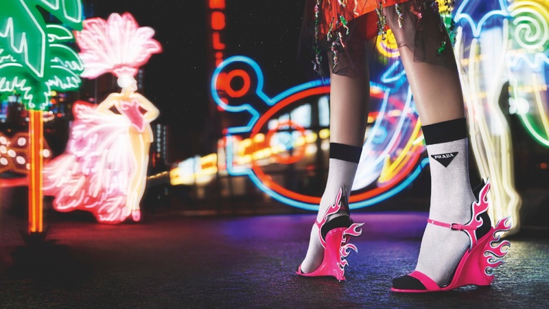 1a802501e2c Prada flame heels 2018