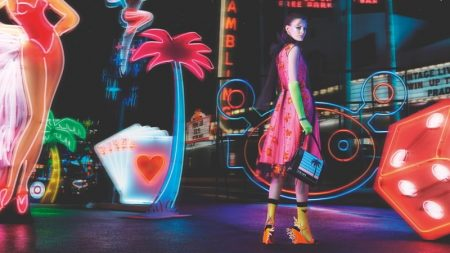 Prada sets fall-winter 2018 campaign in neon lights