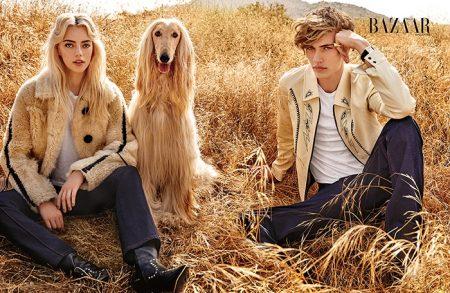 Pyper America & Lucky Blue Smith Pose for Harper's Bazaar Singapore