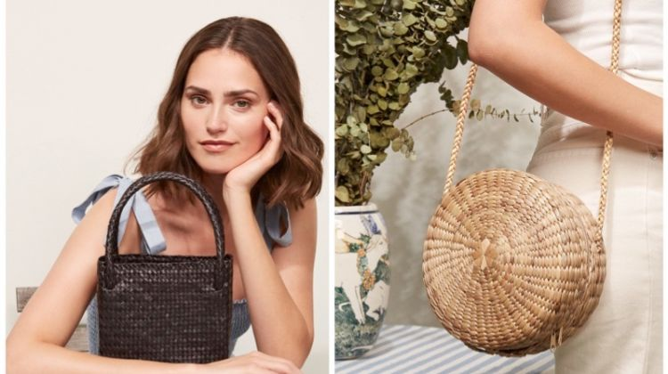 Reformation woven handbags