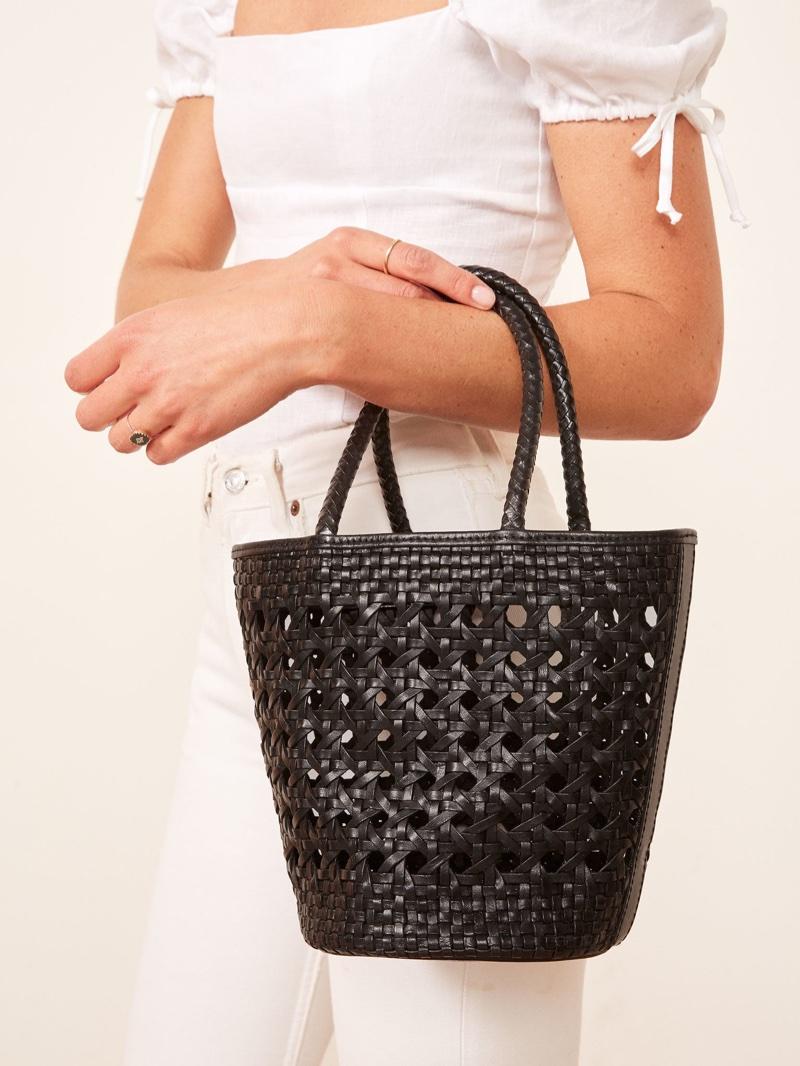 Reformation Bucket Bag in Black $198