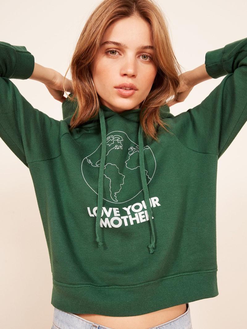 Reformation Coronado Hoodie in Love Your Mother $78