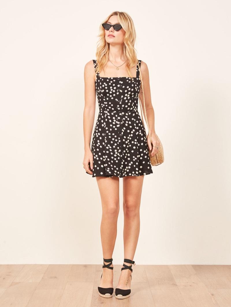 Reformation Jessa Dress in Garland $178