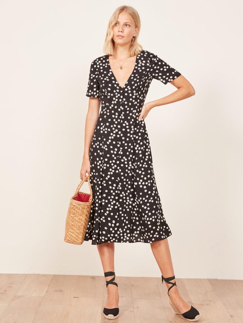 Reformation Locklin Dress in Garland $198