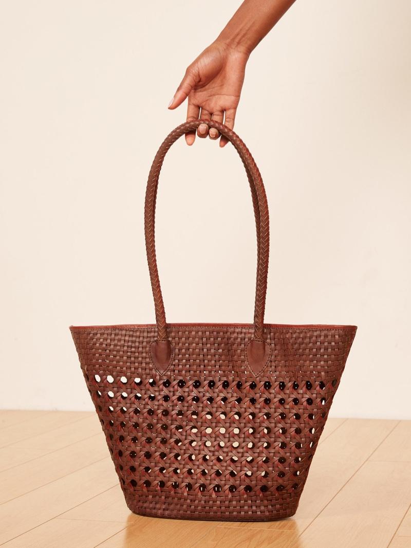 Reformation Market Tote Bag in Tan $298