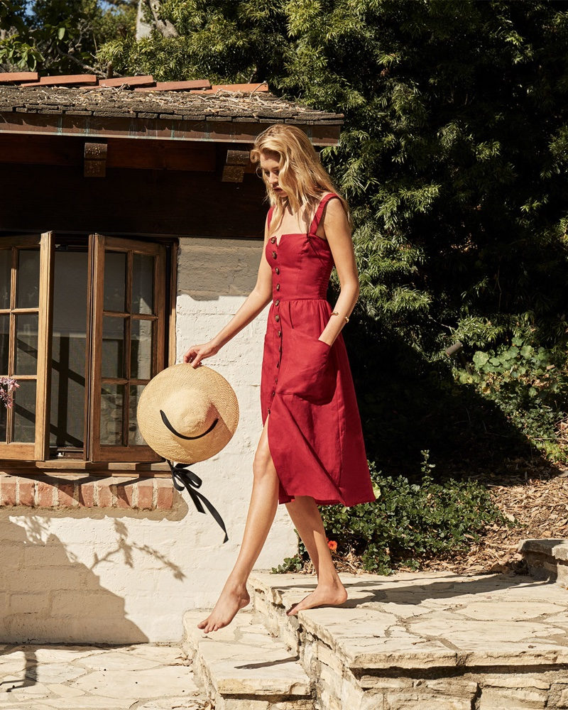 Reformation Norma Dress in Cherry $198