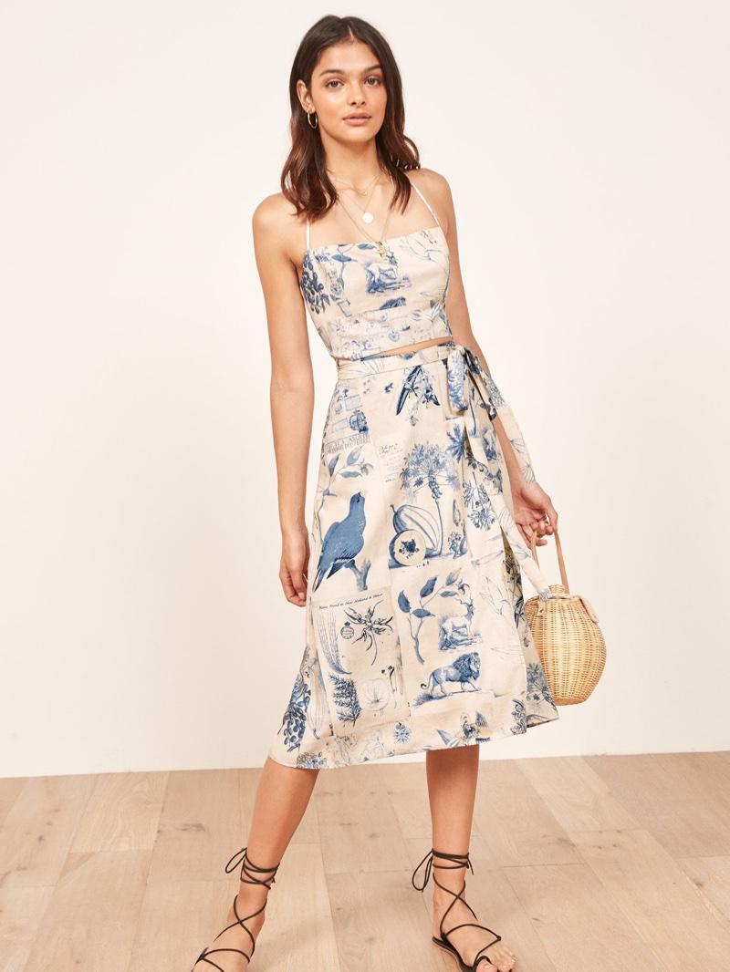 Reformation Umbria Dress in Blue Lion $218