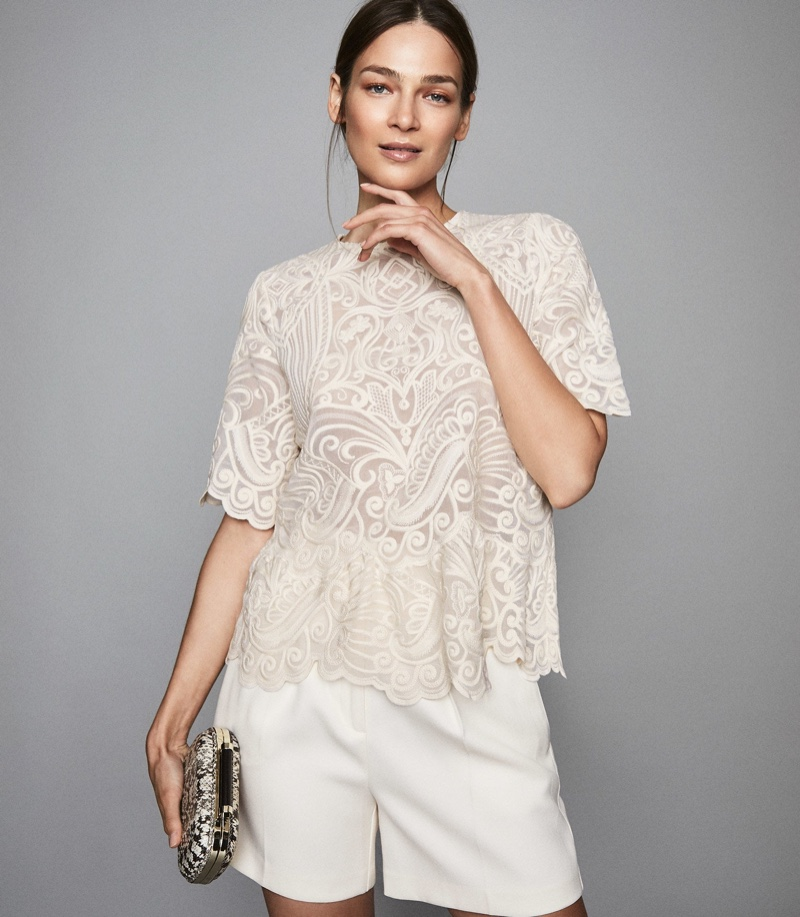 Reiss Melania Lace Top $140 (previously $295)