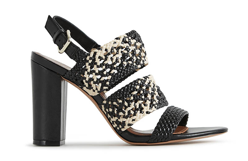 Reiss Sylvia Woven Block Heeled Sandals $90 (previously $330)