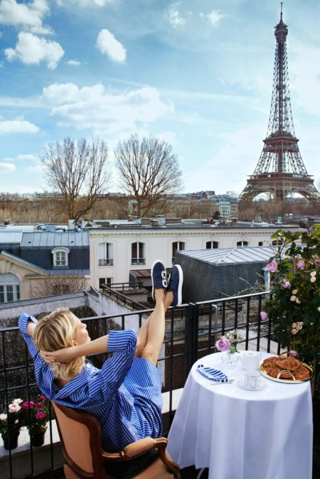Poppy Delevingne Poses in Paris for Roger Vivier Fall 2018 Campaign