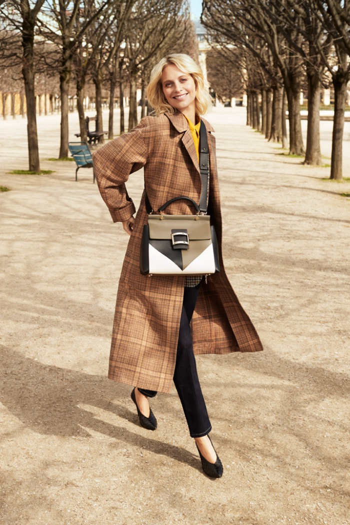 Poppy Delevingne poses in Paris for Roger Vivier fall-winter 2018 campaign