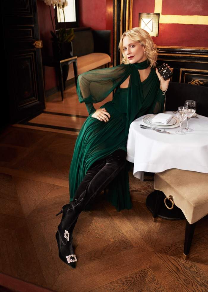 Poppy Delevingne fronts Roger Vivier fall-winter 2018 campaign