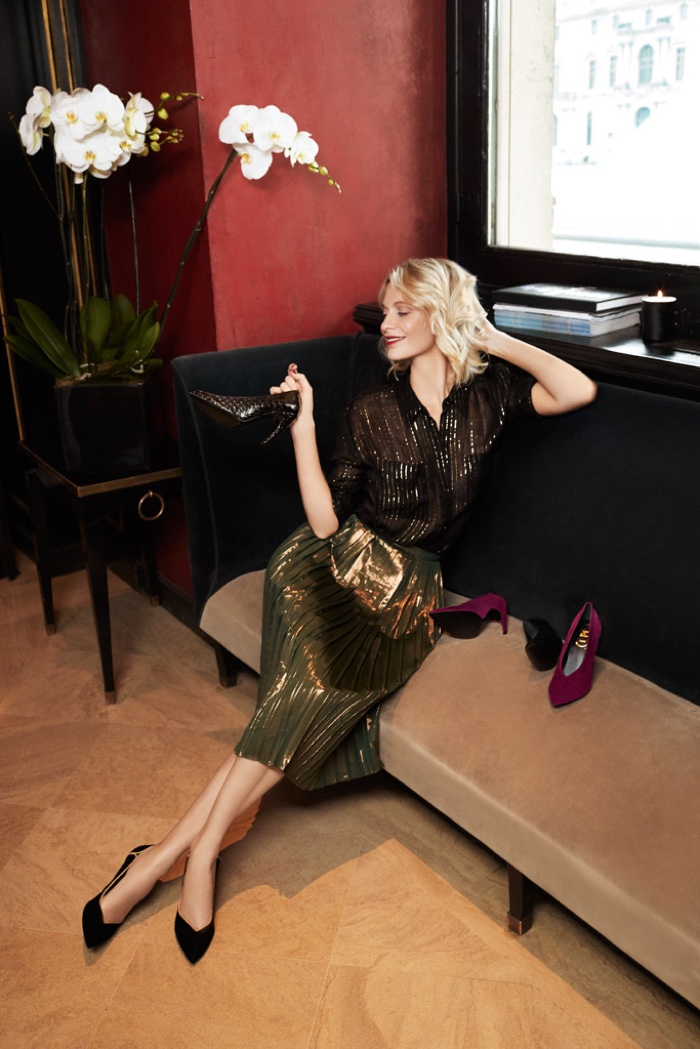 Roger Vivier taps Poppy Delevingne for fall-winter 2018 campaign