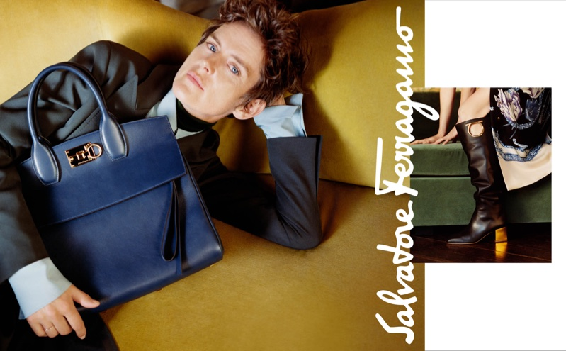 Stella Tennant stars in Salvatore Ferragamo fall-winter 2018 campaign
