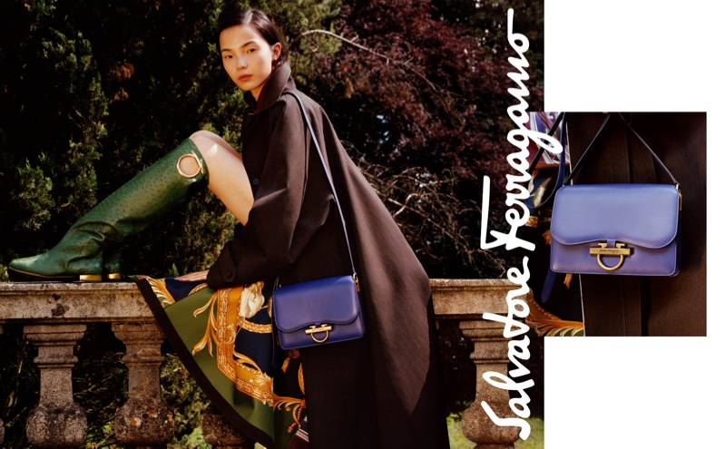 Xiao Wen Ju fronts Salvatore Ferragamo fall-winter 2018 campaign