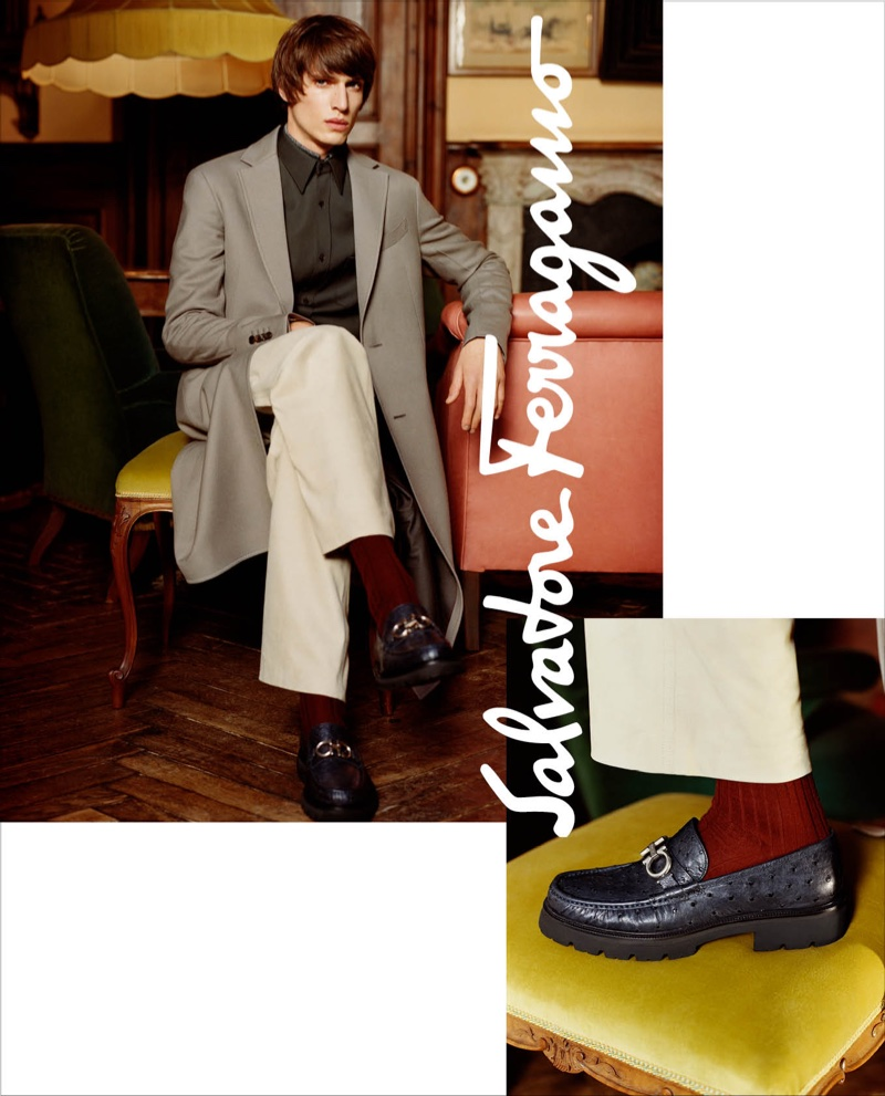 An image from Salvatore Ferragamo's fall 2018 advertising campaign