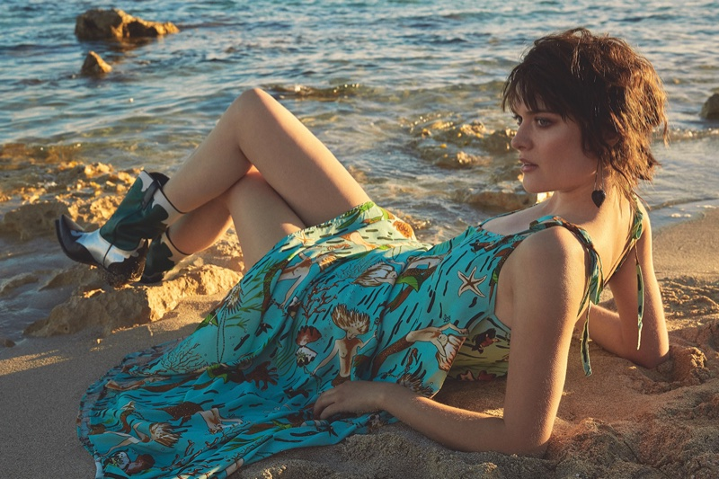 Sam Rollinson Models Pretty Summer Dresses for S Moda