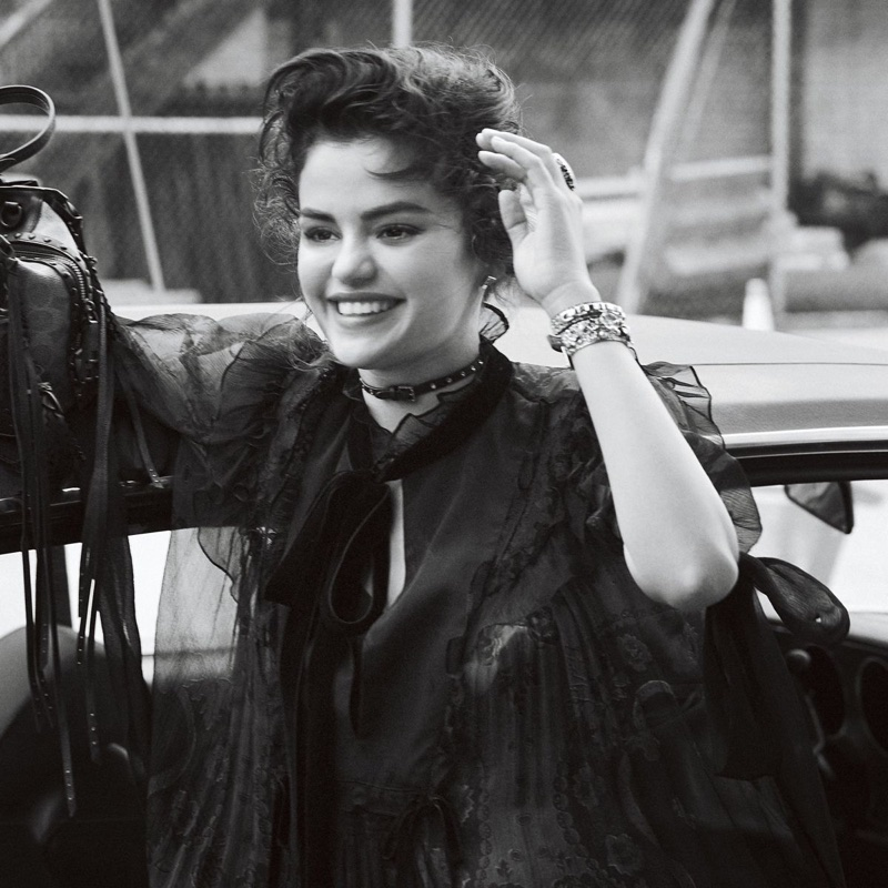 BEHIND THE SCENES: Selena Gomez on set of Coach fall 2018 shoot