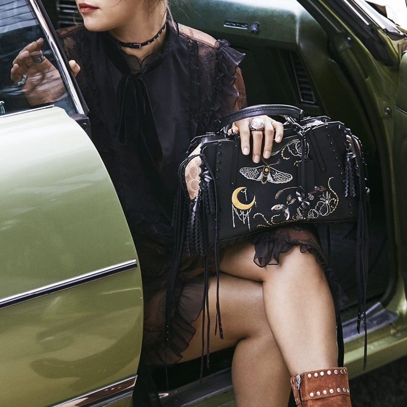 Selena Gomez on set of Coach's fall 2018 shoot