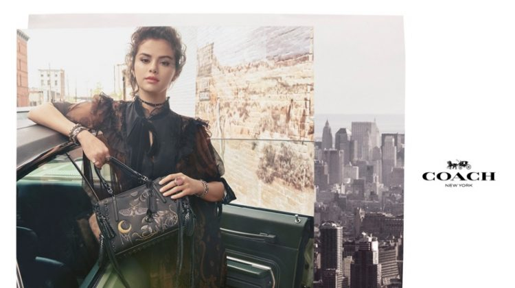 Selena Gomez Poses with the Dreamer Bag in Coach's Fall 2018 Campaign