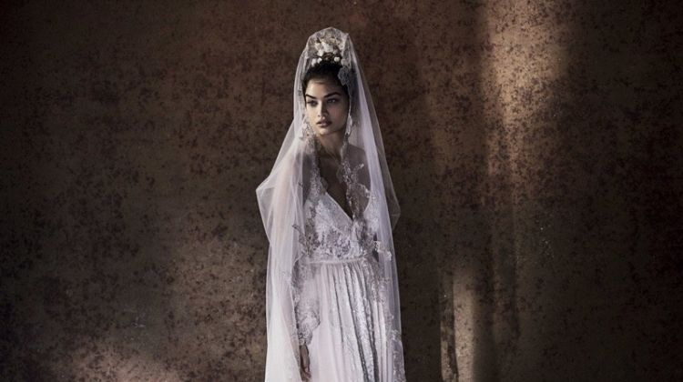 Shanina Shaik Wows in Wedding Gowns for Vogue Brides Australia