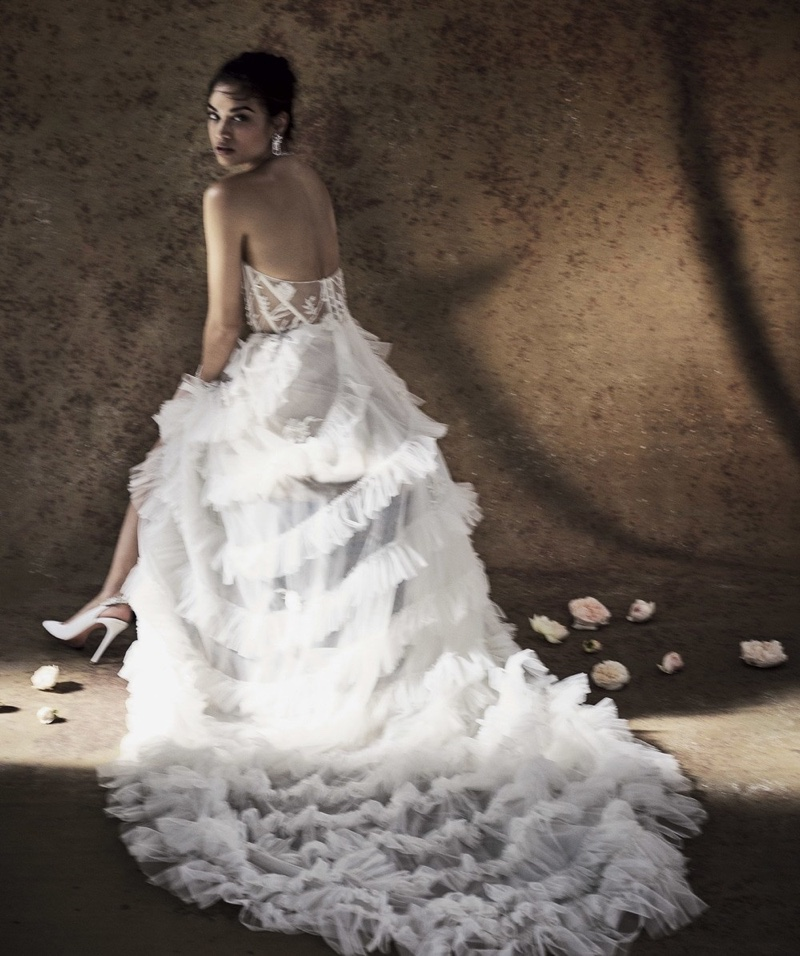 Shanina Shaik Wows in Wedding Gowns for Vogue Brides Australia