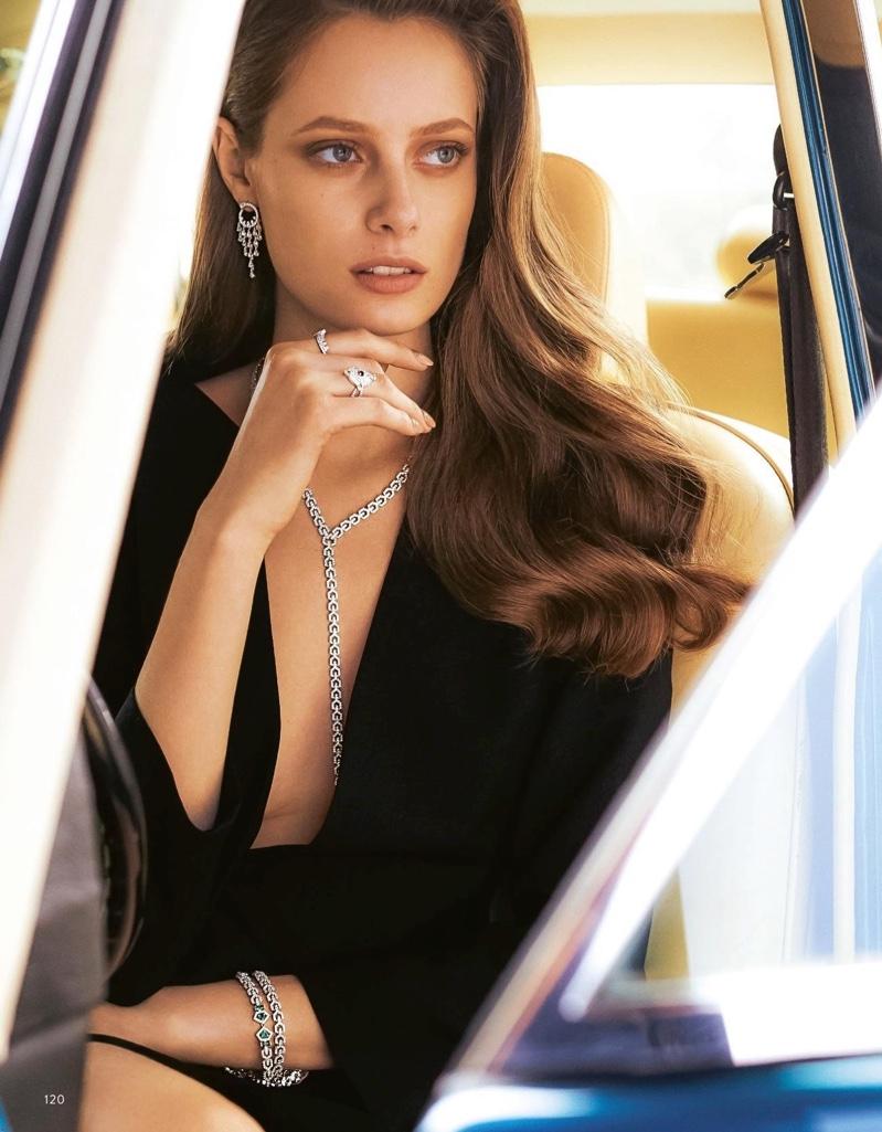 Thairine Garcia Dazzles in Designer Gems for Grazia Italy