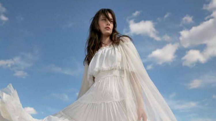 Thairine Garcia Enchants in Wedding Dresses for Harper's Bazaar Brazil