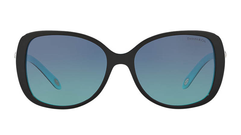 Tiffany & Co. Tiffany Cobblestone Sunglasses in Black/Blue $380